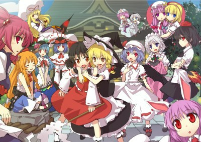 touhou-main-cast-almost-everybody-drunk-party-yeehaw