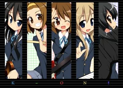 Azu-Nya (miembro que se une a la banda el segundo año), Ritsu, Yui, Tsumugi y Mio. moe